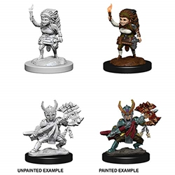 Picture of Dungeons and Dragons Nolzur's Marvelous Unpainted Halfling Female Fighter Miniatures
