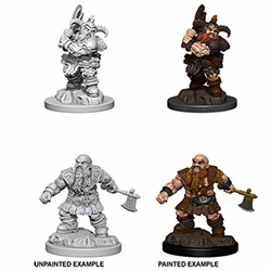 Picture of Dungeons and Dragons Nolzur's Marvelous Unpainted Dwarf Male Barbarian Miniatures