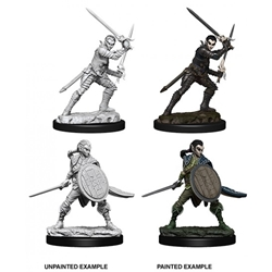 Picture of Dungeons and Dragons Nolzur's Marvelous Unpainted Elf Female Fighter Miniatures