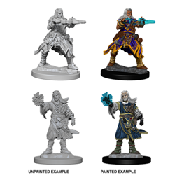 Picture of Dungeons and Dragons Nolzur's Marvelous Unpainted Human Male Wizard Miniatures