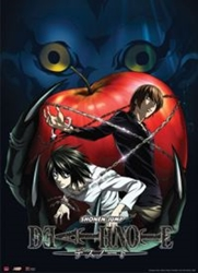 Picture of Death Note Ryuk and Apple Wall Scroll