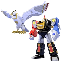Picture of Mighty Morphin Alien Rangers Ninja Megazord and White Ninja Falconzord Super Mini Model Kit Set
