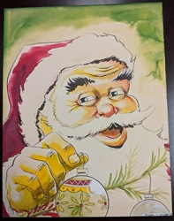 Picture of Michael T Gilbert Santa Claus Original Watercolor Painting