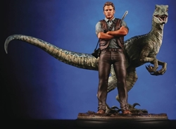 Picture of Jurassic World Owen and Blue Chronicle Ninth Scale Statue