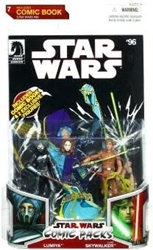 Picture of Hasbro Star Wars Comic Packs Lumiya and Luke Skywalker Two Pack Action Figures