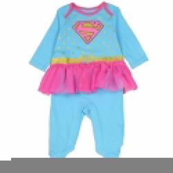 Picture of Supergirl Girls Newborn Costume Sleeper Onesie