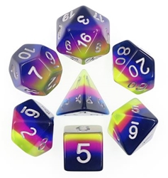 Picture of Neon Sunrise Layered Dice Set