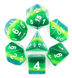 Picture of Green Translucent Layered Dice Set