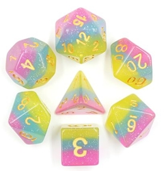 Picture of Candyland Transparent Layered Dice Set