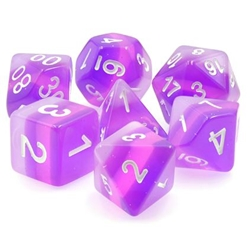 Picture of Purple Transparent Layered Dice Set