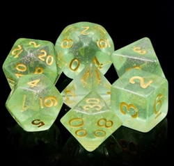 Picture of Green Iridescent Dice Set