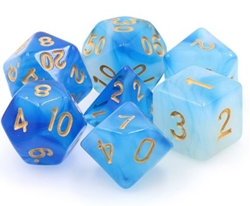Picture of Blue Milky Dice Set