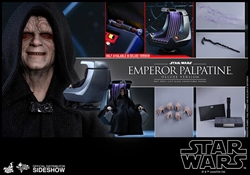 Picture of Star Wars Emperor Palpatine Deluxe Sixth Scale Hot Toys Figure