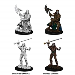 Picture of Dungeons and Dragons Nolzur's Marvelous Half-Orc Female Fighter Unpainted Miniatures