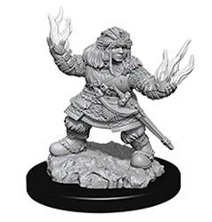 Picture of Pathfinder Deep Cuts Dwarf Female Summoner Unpainted Miniatures