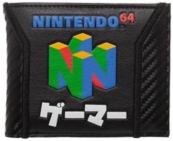 Picture of Nintendo 64 Carbon Fiber Bi-Fold Wallet