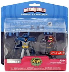 Picture of Hero World Batman Classic TV Series Batman & Catwoman 2 Pack