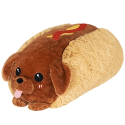"Picture of Dachshund Hot Dog Squishable 15"" Plush"