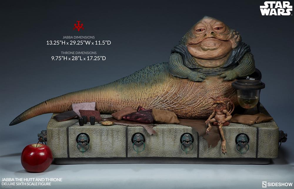 Star Wars Jabba the Hutt and Throne Deluxe Sixth Scale Statue