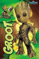 Picture of Groot Guardians of the Galaxy Poster