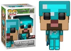 Picture of Pop Games Minecraft Steve in Diamond Armor Vinyl Figure