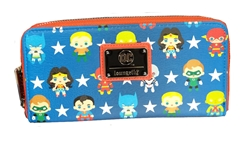 Picture of Justice League Chibi All-Over Print Zipper Wallet