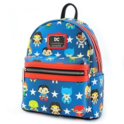 Picture of Justice League Chibi Print Faux Leather Mini Backpack