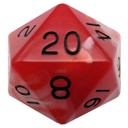 Picture of Acrylic Mega D20 Red/White with Black