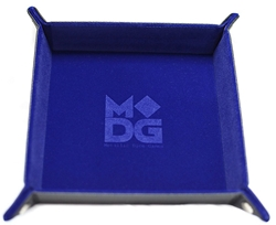 Picture of Blue Velvet Dice Folding Tray