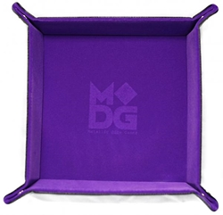 Picture of Purple Velvet Dice Folding Tray