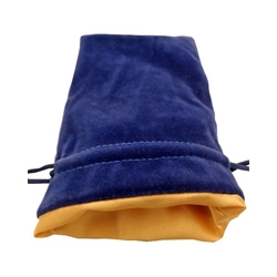 Picture of Blue Velvet Gold Lining Large Dice Bag