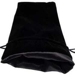 Picture of Black Velvet Black Lining Large Dice Bag