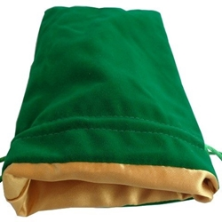 Picture of Green Velvet Gold Lining Large Dice Bag