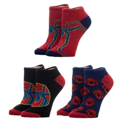 Picture of Spider-Man Iron Spider Ankle Sock 3-Pack
