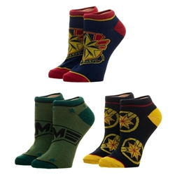 Picture of Captain Marvel Ankle Socks 3-Pack
