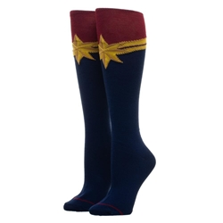 Picture of Captain Marvel Suit-Up Knee High Socks