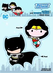 Picture of DC Comic Chibi Justice League Batman and Wonder Woman Sticker