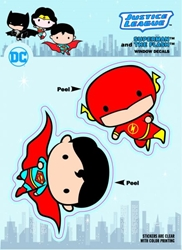 Picture of DC Comic Chibi Justice League Superman and Flash Sticker