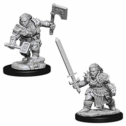 Picture of Dungeons and Dragons Nolzur's Marvelous Unpainted Dwarf Female Barbarian Miniatures