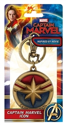 Picture of Captain Marvel Colored Pewter Keyring