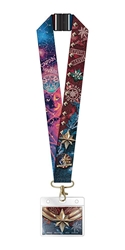 Picture of Captain Marvel Deluxe Lanyard with Card Holder