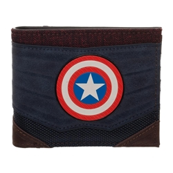 Picture of Captain America Chrome Weld Patch Bi-fold Wallet