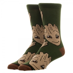 Picture of Marvel Guardians of the Galaxy Groot Large All Over Print Crew Socks