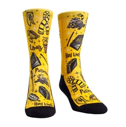 Picture of Harry Potter Hufflepuff Wizard House Crew Socks