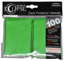 Picture of Pro-Matte Eclipse Lime Green Standard Deck Protector Sleeves