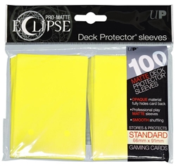 Picture of Pro-Matte Eclipse Lemon Yellow Standard Deck Protector Sleeves