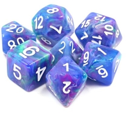 Picture of Northern Lights Swirl Dice Set