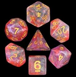 Picture of Luminous Ruby Iridescent Glitter Dice Set