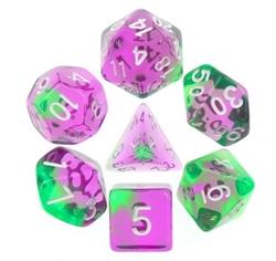 Picture of Violet and Green Violet Evergreen Blend Dice Set