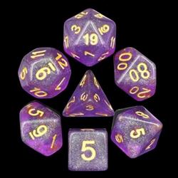 Picture of Purple Iridescent Glitter Dice Set